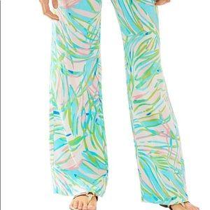 XS Lilly Pulitzer the beach pants Skye Blue Salute